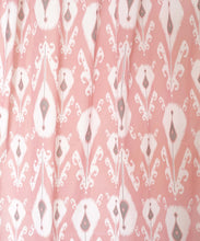 Coral ikat curtain Panel, cotton voile, printed curtain, Sheer Drape, sizes available