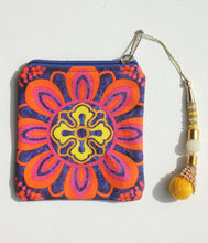 Radiant Flower Motif Coin Pouch
