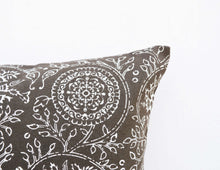 Brown throw pillow cover, Kalamkari print, Indian ethnic, cotton pillow, sizes available.