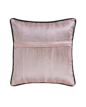 Black Copper Stripe Polysilk Cushion Cover