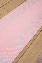 Silver sequin table runner, blush pink runner,  wedding decor, table decor, size 13'X72'
