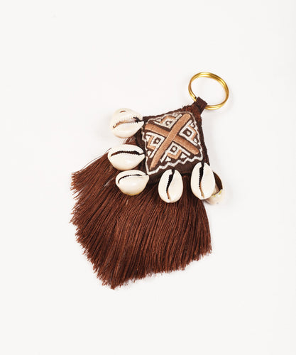 Tribal tassel boho bag charm
