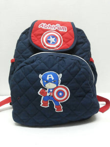 Captain America theme School bag with lunch pouch, Personalised