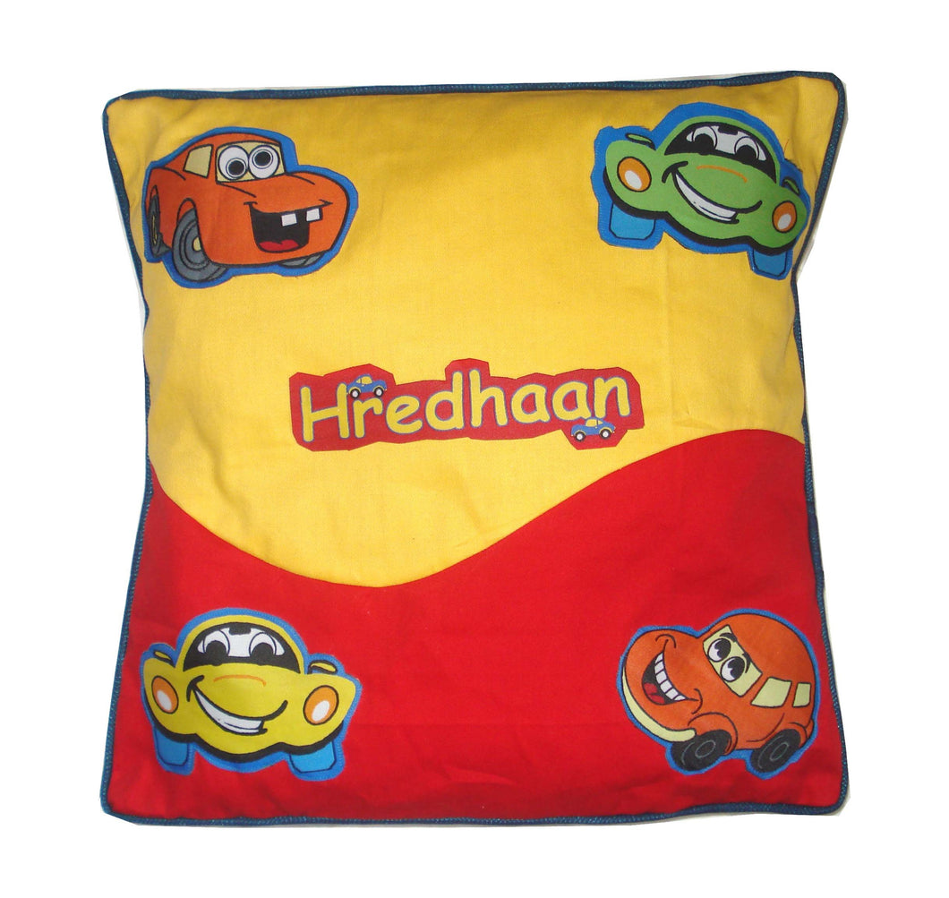 Crazy Car Cushion cover, Personalized