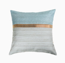 16'x16' Blue and Sky Blue self textured sofa, decorative cushion cover