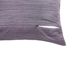 16'x16' Blue and Purple self textured, decorative cushion cover with gold piping