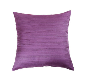 16'x16' Pink and Mauve self textured, decorative cushion cover with gold piping