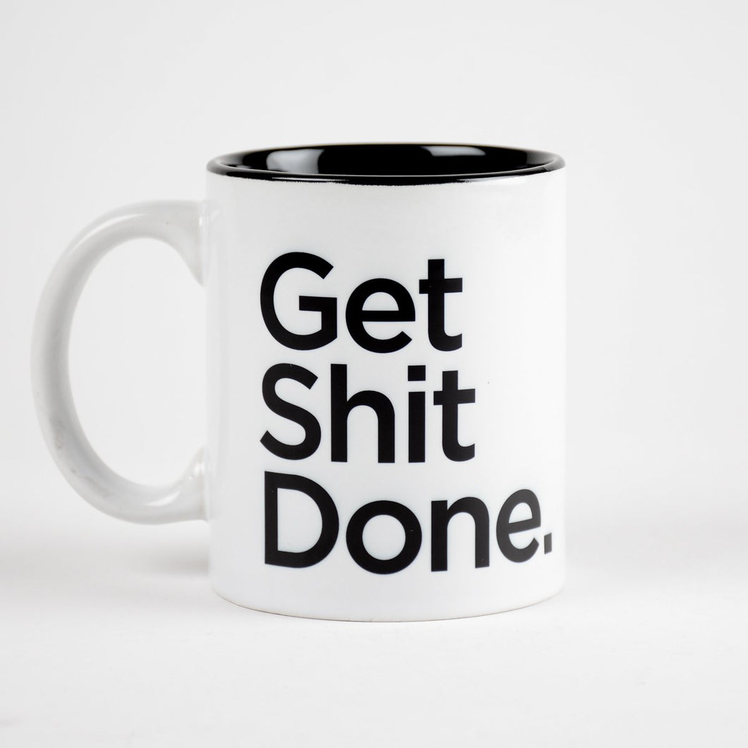 GET SHIT DONE COFFEE MUG (INSIDE COLOR)