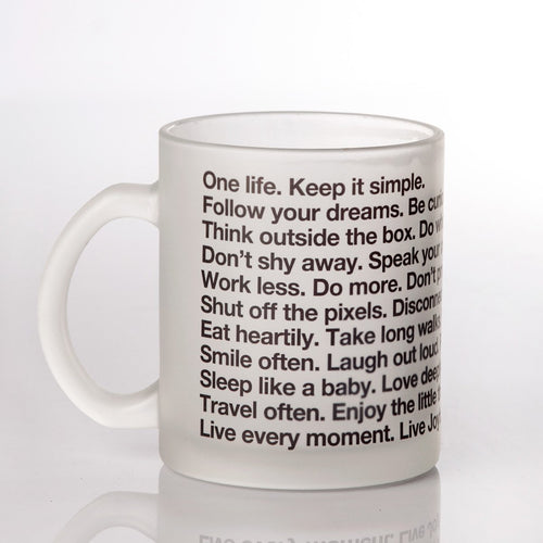 THE LETTERNOTE MANIFESTO FROSTED MUG