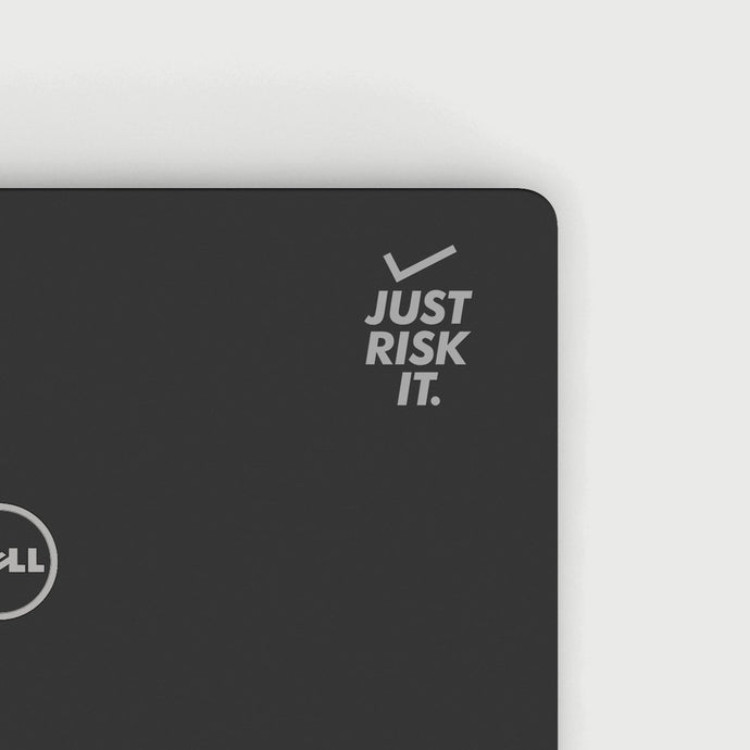 JUST RISK IT DECAL - SILVER