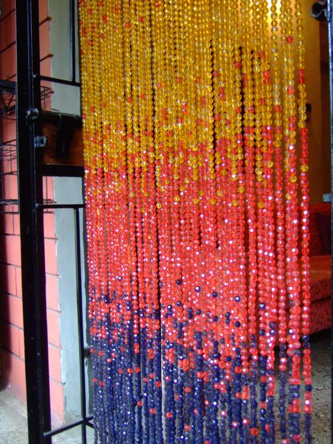 ACRYLIC CRYSTAL READY MADES  - Sunburst Ombre Tricolor Hanging Sculpture (Single Door)