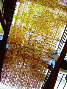 HANDMADE GLASS READY MADE  - Champagne Gold (6ft x 5ft - Double Door)