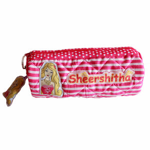 Barbie Cylindrical Pencil Pouch, Personalized