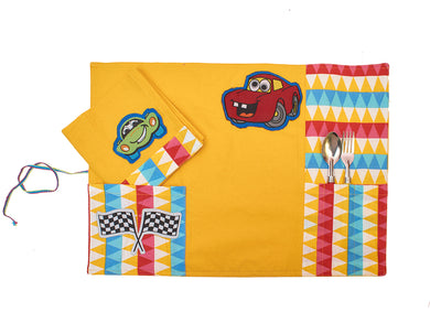 Crazy Car Tablemat and Napkin set
