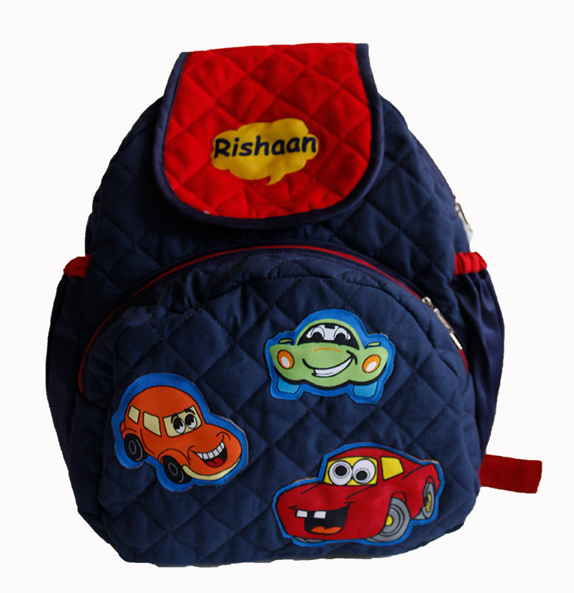 crazy car school bag with lunch case personalized zaarga