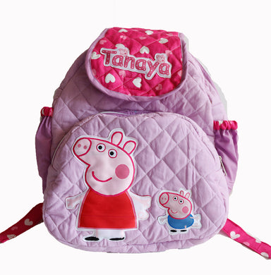 Peppa Pig School Bag with Lunch Case, Personalized