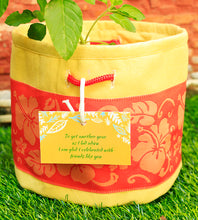 Yellow and Peach Floral Planter Bag