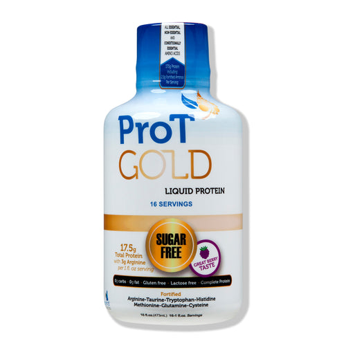 16oz Bottle - ProT Gold Liquid Protein - Hydrolyzed Collagen Protein Shots