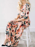 Ecstatic Harmony White Floral Print Maxi Dress