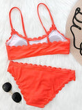 Orange Bikini Swimsuit Top and Bottom