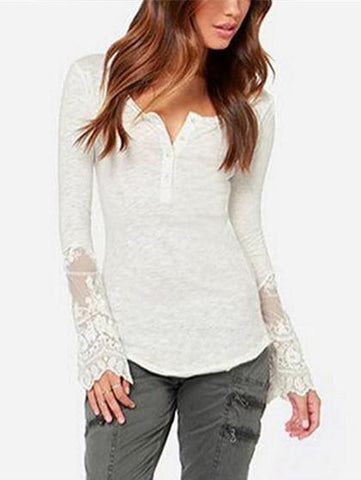 Basic Base Long Sleeve With Lace Shirt