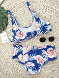 Fun In The Sun Chic Swimwear Big Floral Print Bikini Set