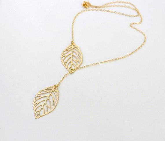 Personlized Leaf Pendant Necklace