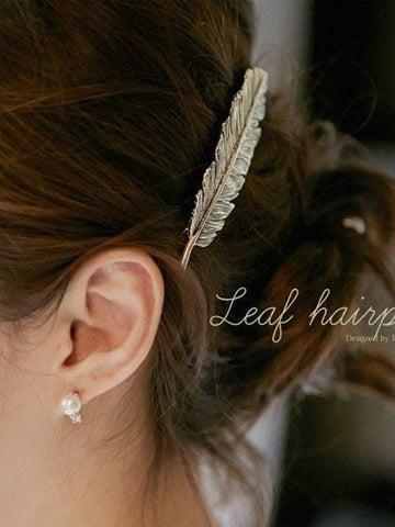DaysCloth Gold Laurel Leaf Hair Accessories Grecian