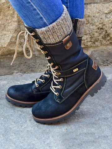 DaysCloth All Season Flat Heel Boots