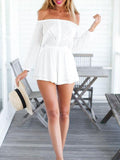 Casual Off Shoulder White Romper