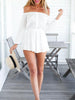 DaysCloth Casual Off Shoulder White Romper