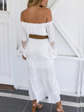 Sexy Off Shoulder White Dress