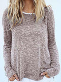 Casual Daily Round Neckline Long Sleeve Top