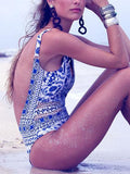 Make Me Love You Mesh Floral Print One piece Swimsuit