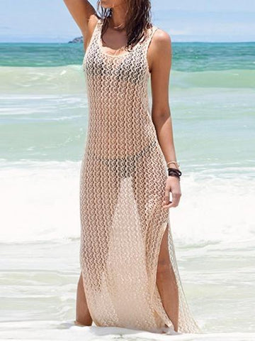 Cut Out Side Split Maxi Beach Dress