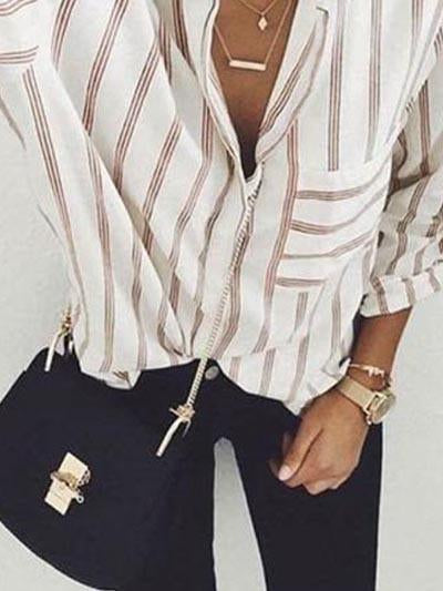 Casual Fashion Striped Blouse Top