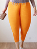 DaysCloth Yellow Cropped Harem Pants