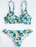Cute Suit  Floral Print Bikini Set