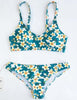 DaysCloth Cute Suit  Floral Print Bikini Set