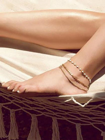 DaysCloth Boho Personlized Anklet(set of 3)