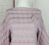 DaysCloth Pure Color Rose Knit Bell Sleeve Sweater