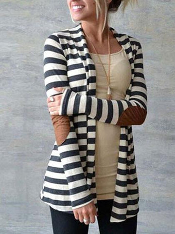 Casual Daily Striped Long Sleeve Top