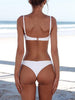 DaysCloth Simple Plain Pure Bikini Set