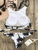 DaysCloth Fashion Monochrome Forest Print Bikini Set