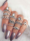 Boho jewelry style Rings(set of 10)