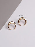 Simple Exquisite Moon Alloy Earring