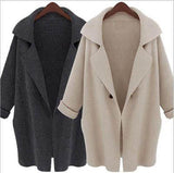 Women Open Knit Cardigan Long Sleeve Fall Oversized Coat