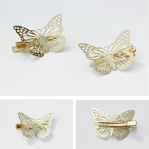 DaysCloth Gold Butterfly Hair Clip (set of 2)