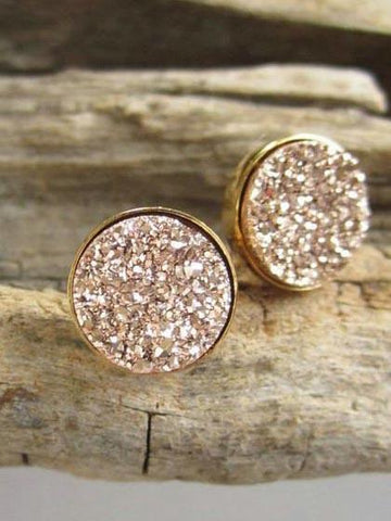 Gold Jewelry Crystal Earrings