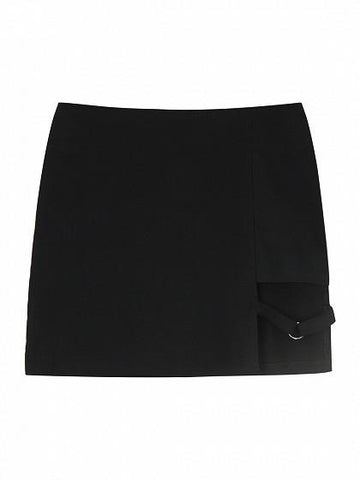 Black High Waist Cut Out Circle Pencil Mini Skirt